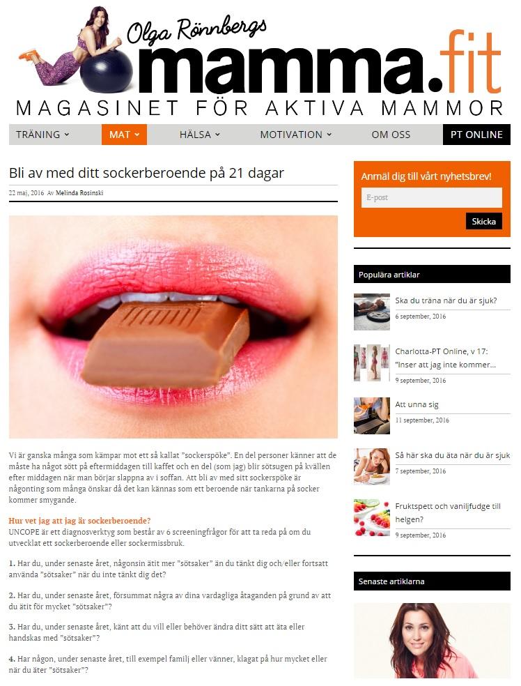 sockerberoende-artikel